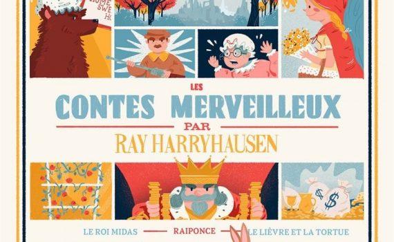 """Affiche du film """"Les contes merveilleux par Ray Harryhausen"""""""