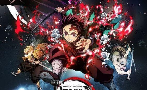 "Affiche du film ""Demon Slayer –Kimetsu no Yaiba– Le Film : Le Train de l'infini"""